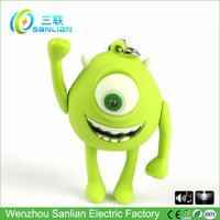 Custom sound effect led big eyes diy make plastic keychain