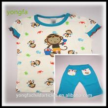 monkey design wholesale cheap baby clothes