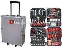 Professional 186 trolley tools box (tools;aluminum tool socket set case)