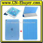 Ultra Slim Folder Leather Back Cover Case for Apple iPad air iPad 5 Case Smart case