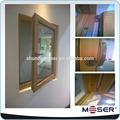 de madera maciza ventanas francés con el alemán roto hardware y color de la naturaleza