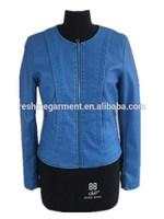 Blue Washed women leather jacket