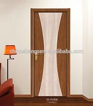ผู้จัดจำหน่ายในประเทศจีนใหม่ล่าสุดราคาการออกแบบประตูไม้ที่เป็นของแข็งประตูไม้