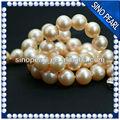 Aaa 9-10mm venta al por mayor de moda vintage de oro collar de perlas para la niña