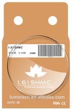 MR-8 1.60 1.61 SHMC lens optical lens super hydrophobic coating