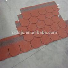 Fish scale asphalt roofing shingles