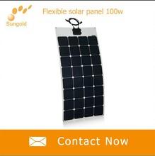 Custom Design Monocrystalline flexible solar panels for RV