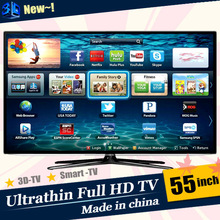 New design Smart TV Cheapest 55 inch 3d led tv