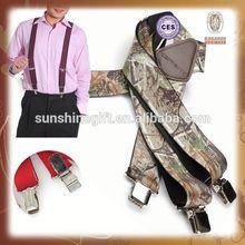 Custom elastic fabric Suspender belts for men