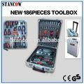 186 pcs topking d'outils à main avec boîtier en aluminium