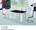moderne glas esstisch set