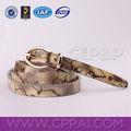python genuino de piel de serpiente cinturón de cuero fabricante en guangzhou