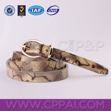 Genuine python snake skin leather belt manufacturer in Guangzhou