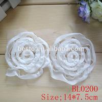 white chiffon mesh handmade decoration rose flower applique work designs for dresses