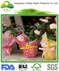 Check pattern wrapping paper for flowers, wax paper