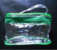 Plastic PVC Vinyl Clear Zipper Cosmetic Bag Carrying Tote Travel bag