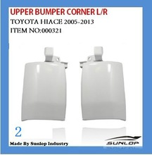 toyota hiace spare parts commuter van bus body kits haice upper bumper corner L/R for KDH200 van bus