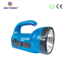 China Safe LED Emergency Flashlight with FM Radio for Camping or Homelighting