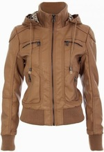 winter leather jacket for women