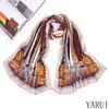 62*180CM Fashion Ladies Shawls Satin Polyester Scarf