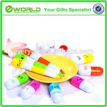 Promotional plastic Capsule shape mini capsule pen