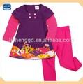 ( h3589) viola 12m- 5A Nova guang zhou fabbrica ragazze ingrosso abbigliamento del bambino set abbigliamento bambino
