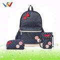 moda 2014 escuela mochila para niña de adolescentes con dos pequeñas bolsas