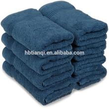 Superior Pure Ringspun Cotton Terry 8-Piece Hand Towel Set, Sapphire