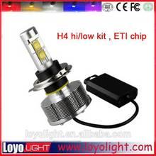 2015 high quality car h4 high low led headlight bulbs, led h4 hi lo led headlamp led