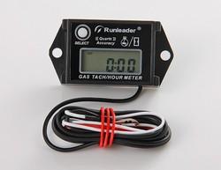 Digital Inductive Gasoline Engine Hour Meter Tachometer Used For 2/4 Stroke Motorcycle,Marine,ATV,Dirt Bike,Boat,Outboard