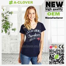 2014 organic cotton t shirts wholesale slim fit women clothing