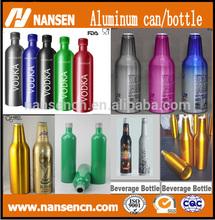 Aluminium bottle for alcohol vodka bottle aluminum beer bottle can