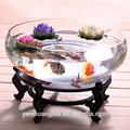 Grand réservoir de poissons de verre rond, bocal à poissons, aquarium acrylique