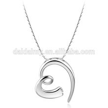 Dinfair wholesale women trendy statement pendant jewelry 2014 fashion best friend heart necklace