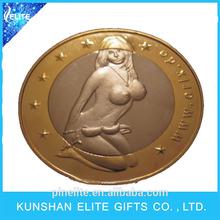 Wholesale Sex Euro Coins/ Fashionable Custom Metal Sex Euro Coins