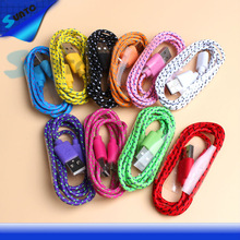 Free Sample Offered Fabric Braided USB Cable for phone USB Cable for iphone4s