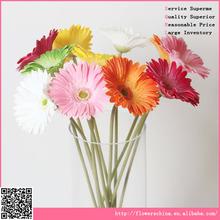 Artificial con encanto de flores de gerbera, arreglo de flores artificiales