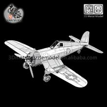 3D DIY Metal Puzzle Creative Toy F4U Corsair Plane Model