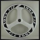 Lightest 2014 Carbon Tri Bike Wheel 50mm Clincher,88mm Three Spoke Bike Parts