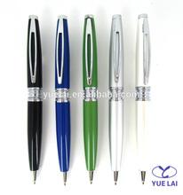 Shiny color spring metal ball pen