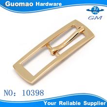 Shiny light gold fashion customized cross pin belt buckle