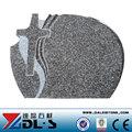 Konkurrenzfähiger preis g664 granit polen grabstein, billige granit grabstein