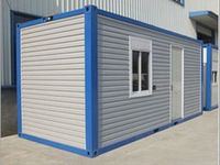 Flexible layout prefab house building construction container house