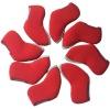 Red Neoprene Golf Iron Head Cover Set (IC-03)