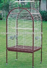 metal bird cage parrot cage dark red frame white cage body wholesale