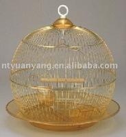 golden wire bird cage antique animal cage