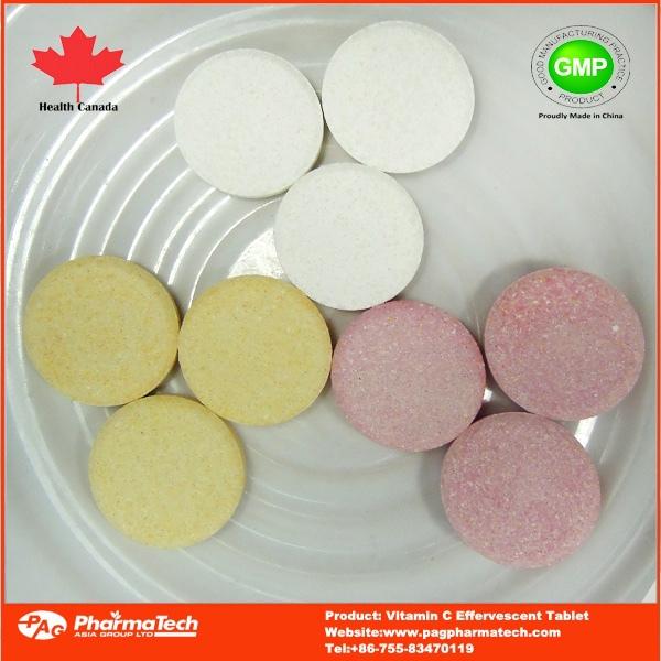 فيتامين c الفوارة اللوحي الملونة للأطفال