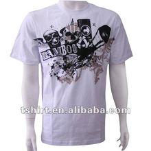 Men's printing Organic cotton discharge t-shirt