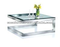 Modern clear glass coffee table CC-9941#