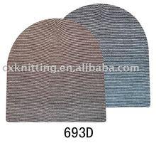knitting pattern hat striped beanie